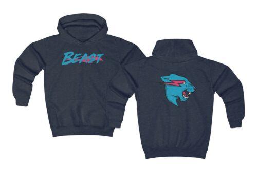 Kids Mr Beast Lightning Cat Hoodie Mr Beast Merch Youth  MrBeast Sweatshirt