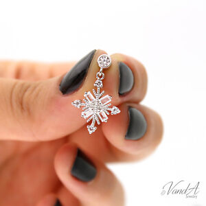 Sterling-Silver-925-Snowflake-Earrings-with-CZ-stones-Christmas-Drop-Earring-E52