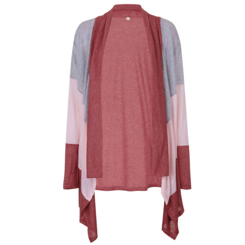 Damen Langarm Wolljacke Strickjacke Pullover Cardigan Longshirt Mantel