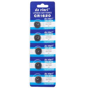 5-Stueck-CR1620-3V-Knopfzelle-Batterie-Elektronische-Knopfzellen-Knopfbatterie