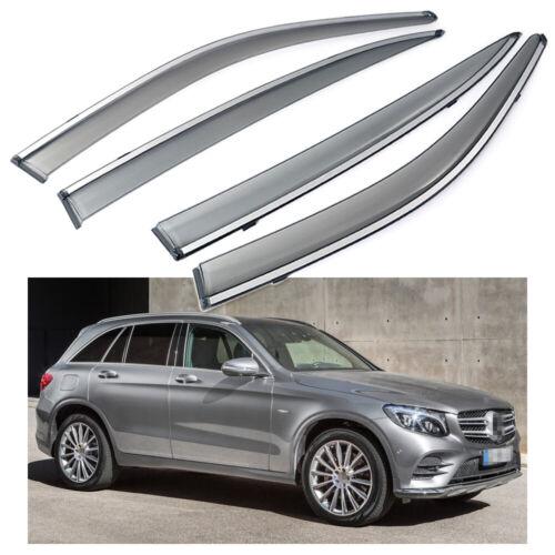 Car Window Visor Vent Shade Deflector Sun//Rain for Mercedes-Benz GLC 2016-2020