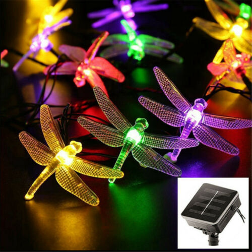 Solar Powered LED String Light Garden Path Yard Decor Lamp Outdoor Waterproof US