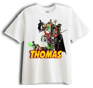 Image Is Loading Justice League Superman Personalized Birthday T Shirt Party