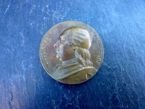 seltene-alte-Medaille-Bronze-Herrnhuter-Bruedergemeinde-1922-Graf-von-Zinzendorf