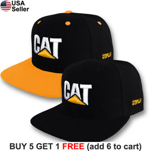 08fd693f3b53d Image is loading Caterpillar-Cap-CAT-Construction-Embroidered-Logo-Hat -Tractor-