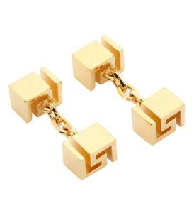 10798cd45 Image is loading VERSACE-Mens-Gold-Greek-Key-Cufflinks-BNWB