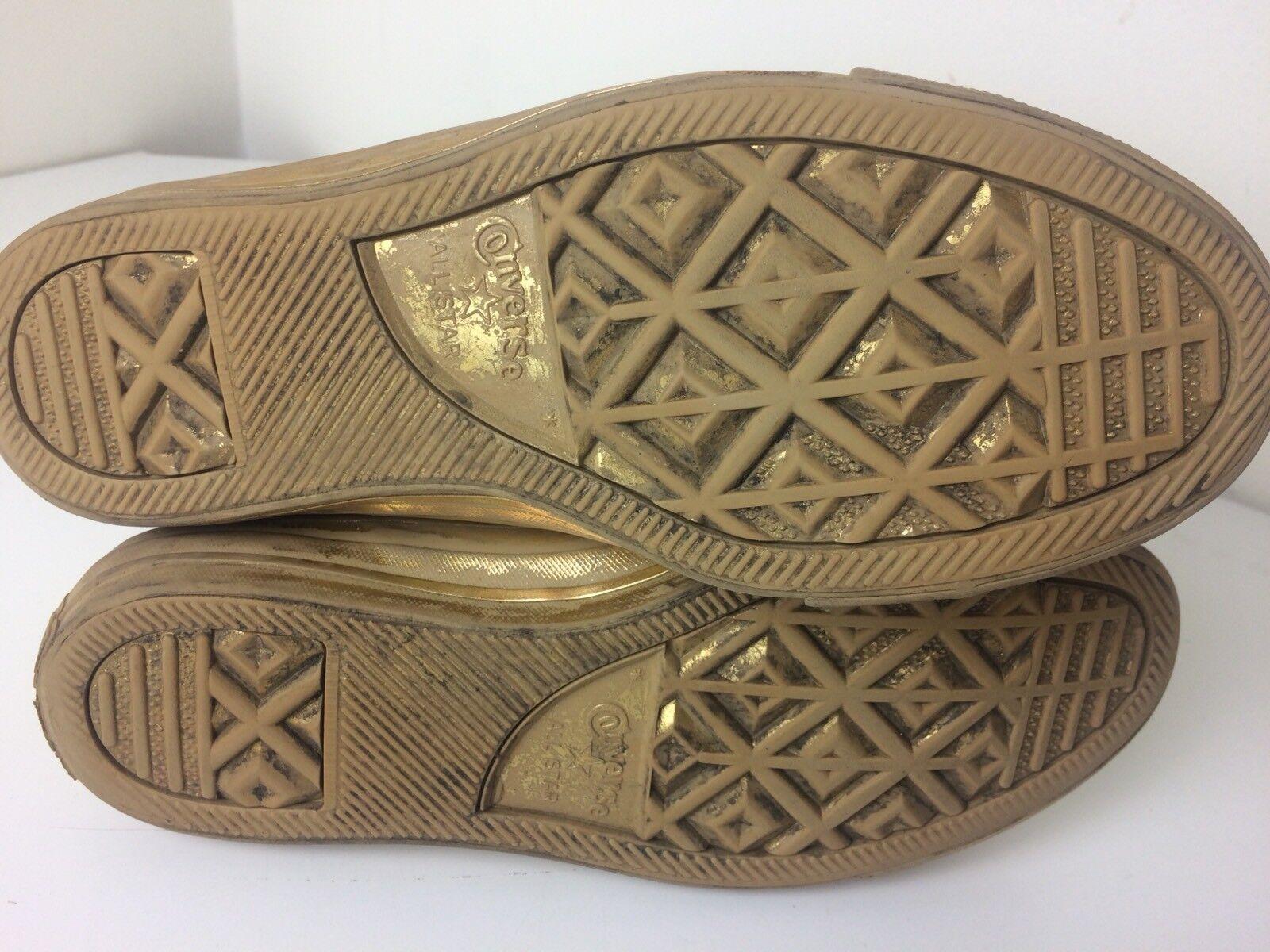 Converse All Star Star Star Chuck Taylor Metallic Doré Hi Top Sneakers US 7.5 Vietnam 17e06b