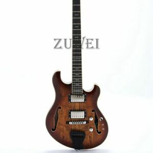 Languedoc-Hollow-Electric-Guitar-Spilted-Maple-Top-amp-Back-Handmade-5-Piece-Maple