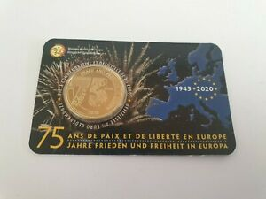 Coincard-2-5-Euros-Commemorative-Belgique-2020-75-Ans-Liberation-Version-FR
