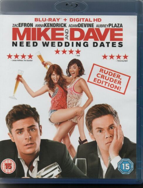 MIKE AND DAVE NEED WEDDING DATES - Zac Efron, Anna Kendrick - Blu-Ray