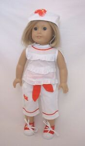 Doll-Clothes-18-034-Pants-Capri-Top-Hat-Set-Fits-American-Girl-Dolls