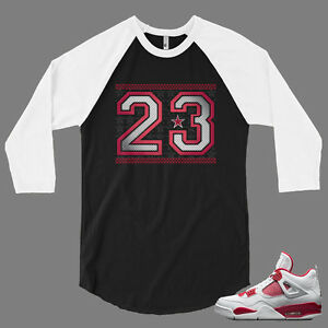 low priced d858d 5609a Details about 23 Baseball Graphic T Shirt To Match Retro Air Jordan  Alternate 89 Jordan 4 Shoe