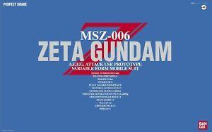 Bandai-Pg-1-60-MSZ-006-Zeta-Gundam-Modele-Plastique-Kit-Z-Gundam-Japon