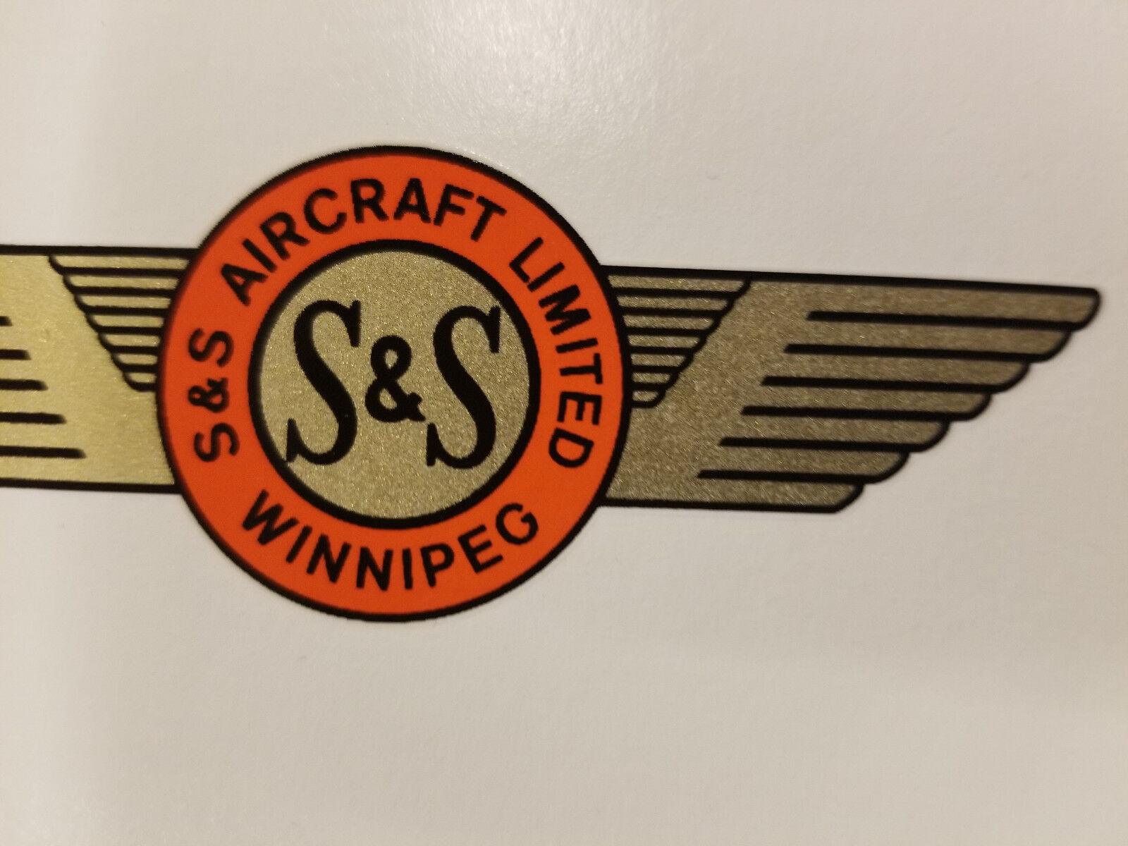 S & S AIRCRAFT Propeller Wasserrutsche Aufkleber Aufkleber Aufkleber Set 1940s - 1950s Drohne 81572a