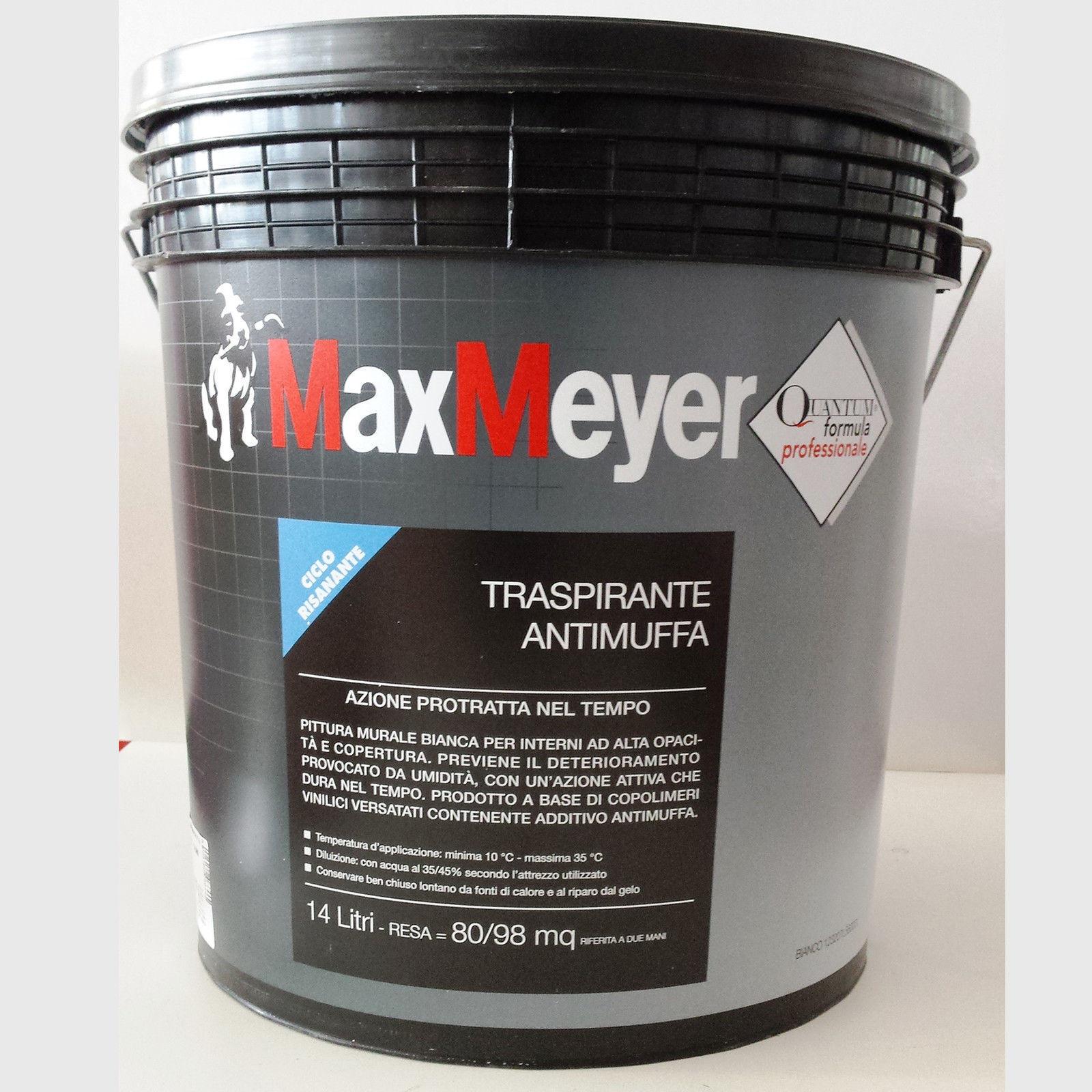Quando Usare Il Fissativo détails sur pittura bianco per interni traspirante antimuffa max meyer  lt.14 quantum