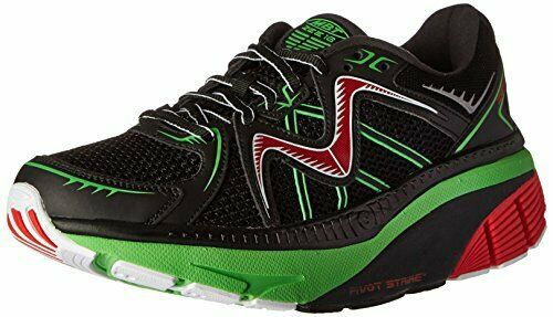 MBT Physiological FTwear Mens zee 16 Running scarpe, nero Fire rosso Lm verde,