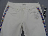 SEVEN Womans WHITE TRIBAL STRIPED CAPRI CROPPED STRETCH JEANS NWT Sz 6   30 x 22