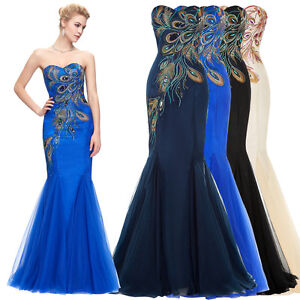 Image Is Loading PEACOCK Vintage Formal Evening Party Long Gown Cocktail
