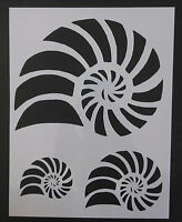 Nautilus Beach Seashell Sea Shells Multiple 8.5 X 11 Stencil Free Shipping