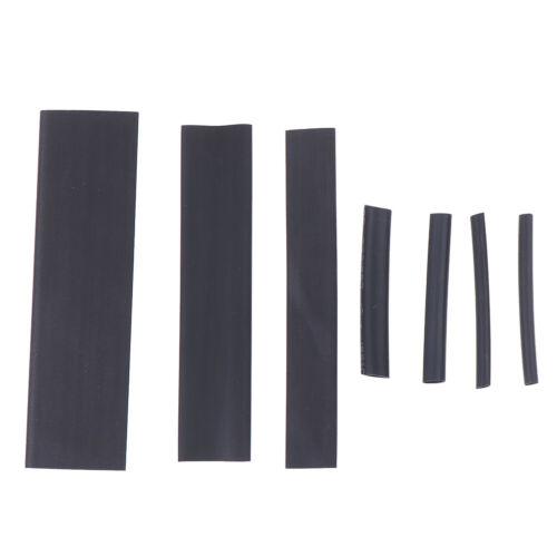 127Pcs intempéries thermorétractables gaine Tubing Tube Assortiment Kit Black gluevu