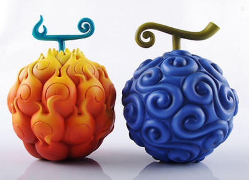 One Piece Devil Fruit Flame-Flame Fruit & Gum-Gum Fruit Ace Luffy x2 Model
