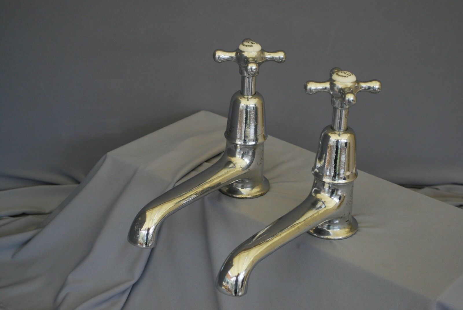 Ancien bain Robinets Grand Chrome Long 6  Reach Régénéré, remis à neuf rétro robinets
