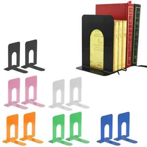 Pair of Heavy Duty Metal Bookend Book End Stand Support Office Stationery School