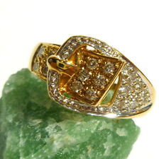 Toller Ring 56 (17,8 mm Ø) 585/14k Gold Brillant 0,16 ct Diamant