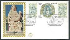 1982 VATICANO FDC FILAGRANO GOLD LUCA DELLA ROBBIA NO TIMBRO ARRIVO - VT3-2