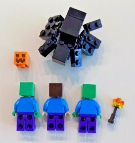 Zombies Lego Minifigure Minecraft Lot C ~ Steve Torch Spider