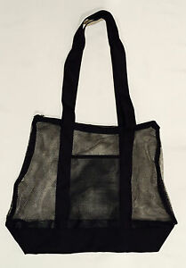 Image is loading Extra-Large-Mesh-Beach-Bag-with-Pocket-Storage- 3b934fbf89a6d