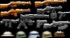 Brickarms World War 2 WWII Weapons Pack Lego Minifigure Accessory Pack