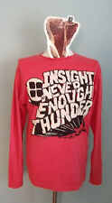 Vintage INSIGHT Long sleeved T Shirt & STICKER MEDIUM M Skateboar Surf Skate Red