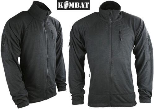 Delta Tactical Recon Military Grid Fleece Zip Army Jacket Combat Top Green Black