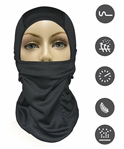 [9 in 1] Full Face Mask Motorcycle Balaclava Running f Cold Hot Weather