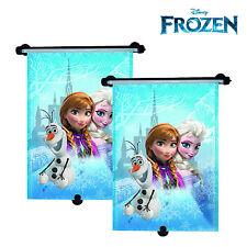 Pair Disney Frozen Princess Elsa Car Window Rollers Blinds Sun Shades UV Block