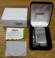 Zippo 1500 Slim High Polish Sterling Silver Lighter Lifetime Warranty Usa