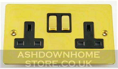 G/&H Flat Plate Polished Brass Light Switches /& Plug Sockets