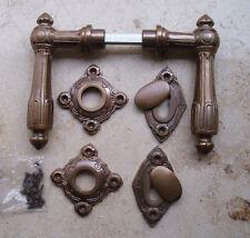 Geschenknet Antik Messing Tür Griff Türgriffe Rosetten BB Türbeschlag R23A