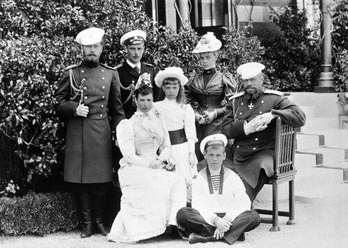 Photo The Russian Imperial Family-Tsarevich Nicholas-Empress Maria Feodorovna