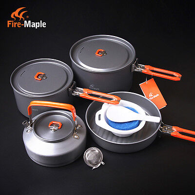 Fire Maple 4-5 Person Outdoor Camping Pots Set Picnic Cooking Cookware Feast 4