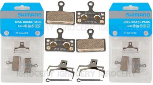 2 Pairs Shimano G04S Metal Disc Brake Pad w//Split Pin /& Spring XT BR-M8000 NIB