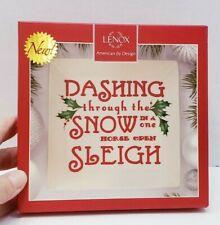 Lenox Square Tidbit Plate Dashing Through The Snow 870595