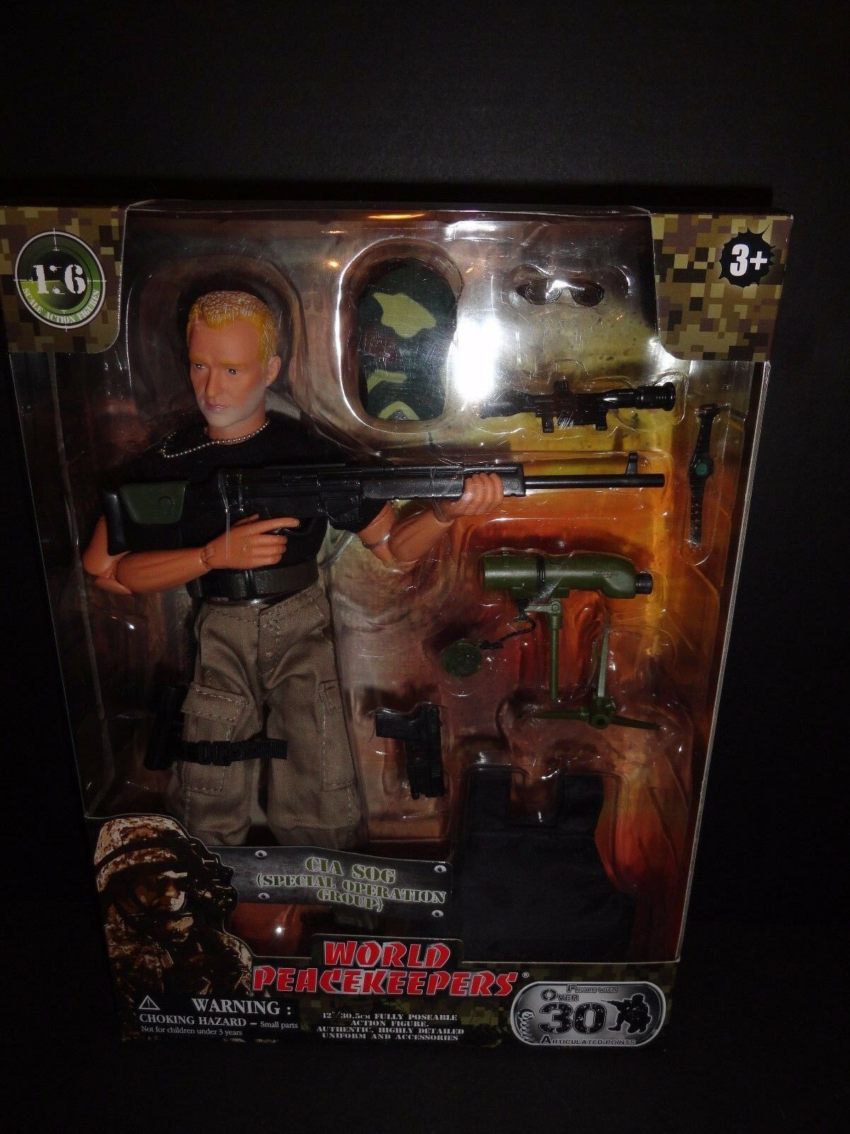 WORLD PEACEKEEPERS CIA SOG SPECIAL OPERATION  12  MILITARY ACTION FIGURE   NEW