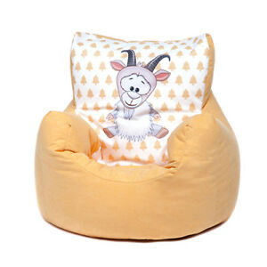 Fabulous Details About Yellow Goat Childrens Character Filled Beanbag Kids Bean Bag Chair Bedroom Pabps2019 Chair Design Images Pabps2019Com