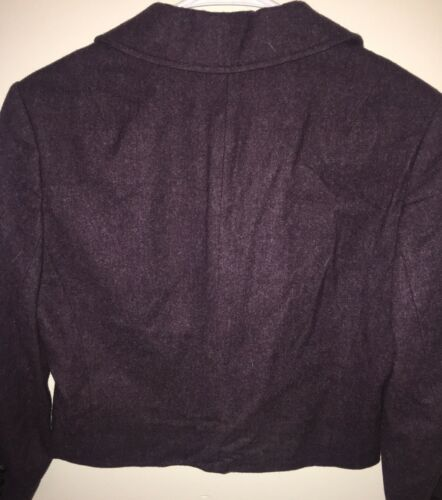100 Frakke Mørke 10 Pendleton Jakke Uld Kort 1970s Kvinder Størrelse Lilla Vintage v4nYq88