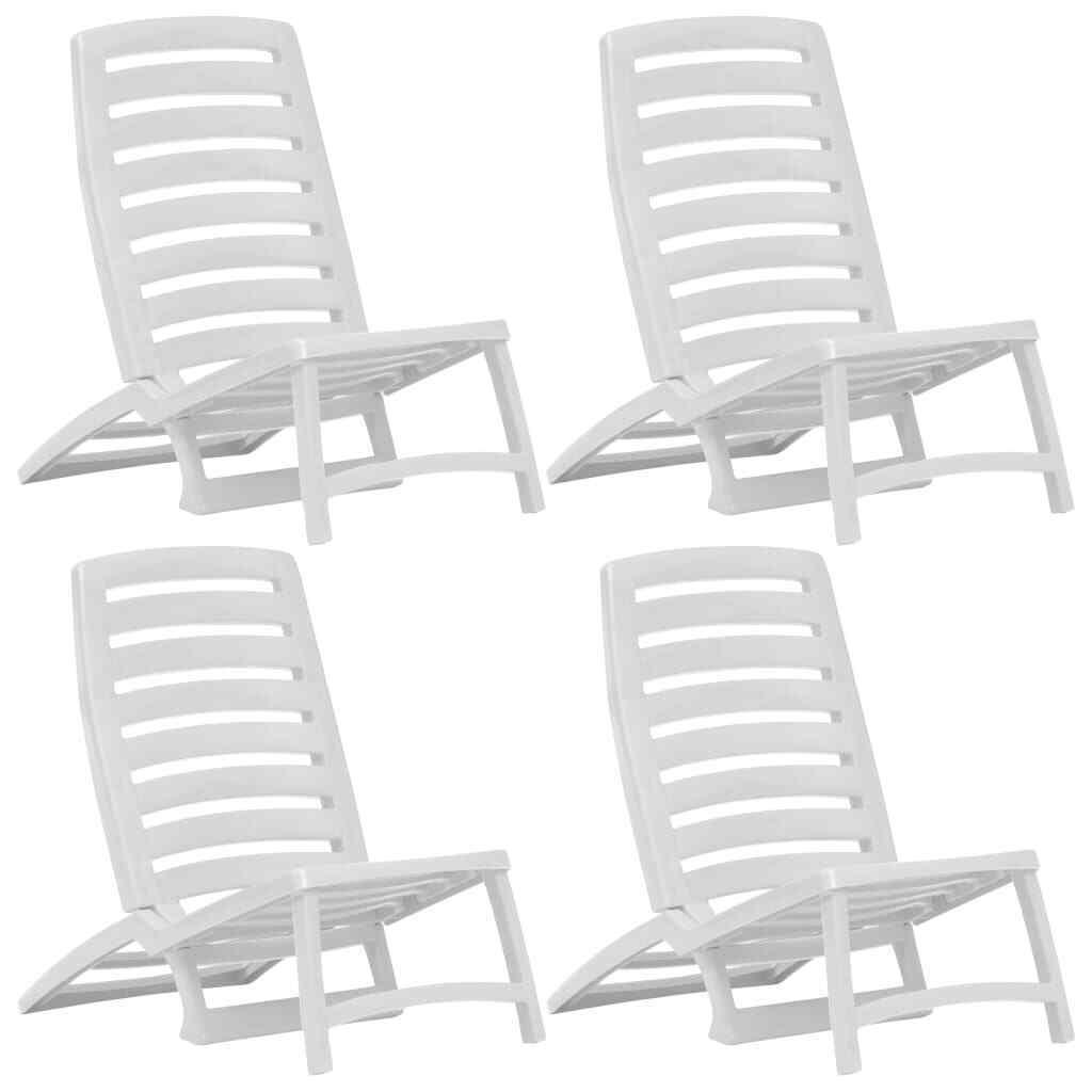 VidaXL 4x Sillas de Jugara Plegables  Plástico blancoas Accesorios Jugara Piscina  en stock