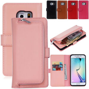 Detachable Zipper Wallet Phone Case For Samsung Galaxy S8 Plus S6 S7 Edge S5 Ebay
