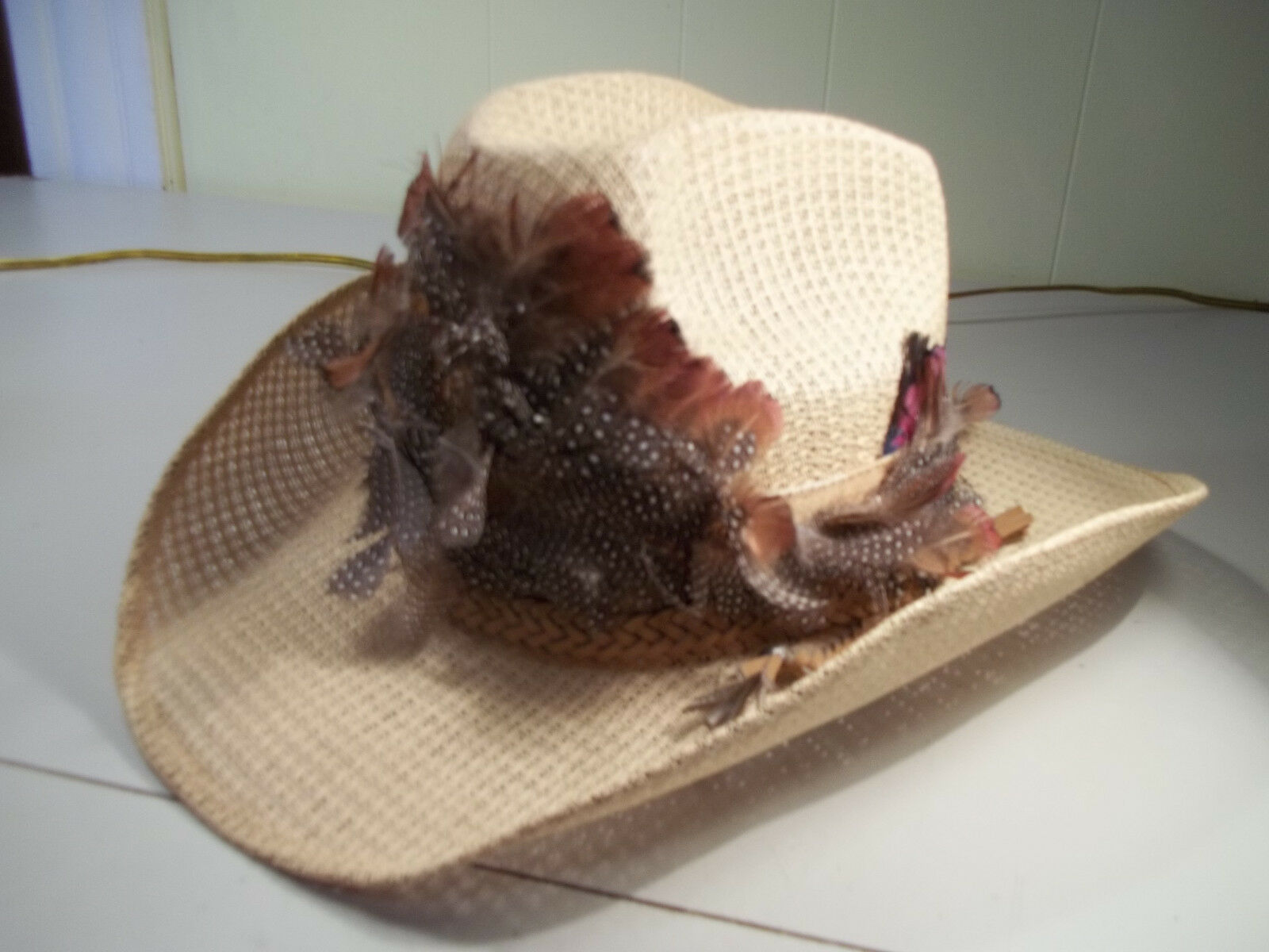 Hecho Straw  Cowboy Hat   Size 7 1 8