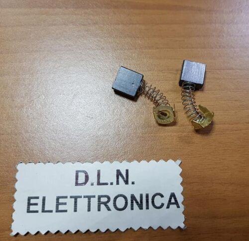 SPAZZOLE DI CARBONIO 2PZ X   SEGHETTI TRAPANI ELETTRICO 6,4x14x13,8 mm RICAMBI